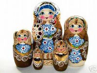 collection of Russian Nesting Dolls